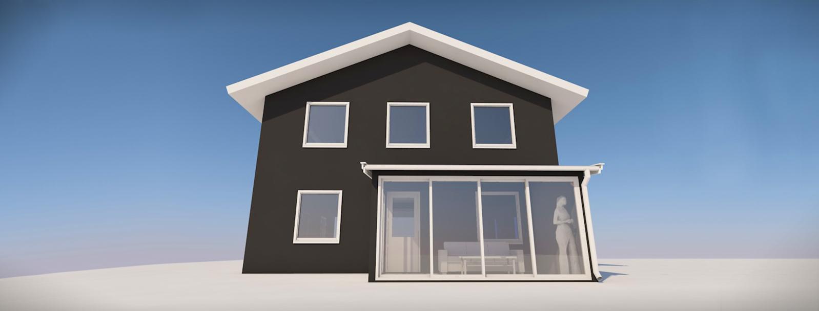 Hagestuen (tilbygget) kan ha maks et samlet bruksareal (BRA) eller bebygd areal (BYA) på 15 m2.